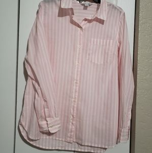 'The Classic Shirt' Pink & White Striped